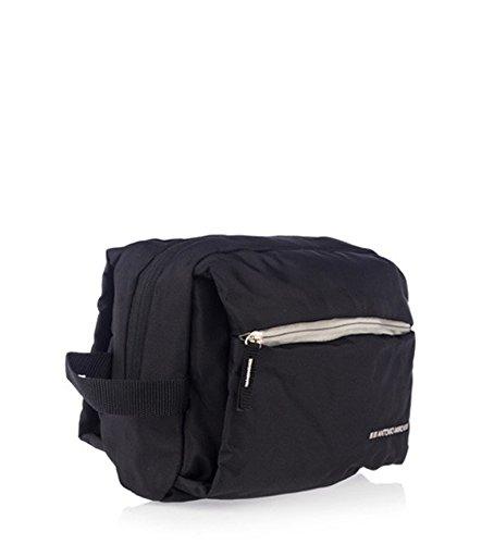 ANTONIO-MIRO-Neceser-Impermeable-Nylon-Negro-Amplio-con-Bolsillos-exterior-e-interior-Logo-bordado-Ideal-para-viaje-Satisfaccin-garantizada