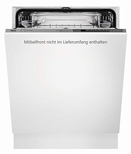 AEG FSB52610Z Vollintegrierter-Geschirrspüler / 60cm / AirDry - perfekte Trocknungsergebnisse / energiesparend / Besteckkorb / Glasprogramm / Beladungserkennung / Intensivprogramm / Kurzprogramm / St -
