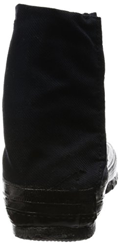 MARUGO Jitsuyou Japanische Tabi Schuhe KOMPLETT Schwarz mit 5 Clips Schwarz