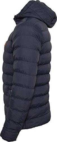 Urban Classics Herren Jacke Basic Bubble Jacket nvy/wht/nvy