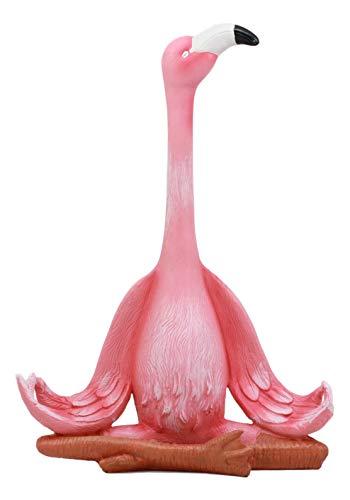 Ebros Zen Yoga Deko-Figur, Flamingo, in Lotus-Meditationspose, Tropische Watte, 31 cm hoch -