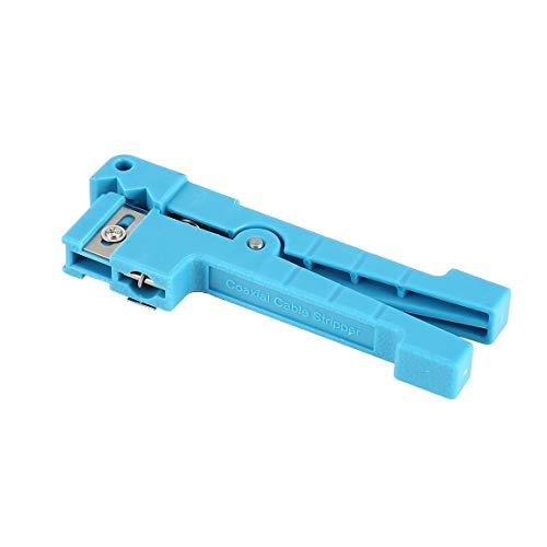 Faser Koaxialkabel Abisolierzange Optik Querstrahlrohr Offene Abisolier Lose Gehäusemesser Werkzeug für CATV Kabel (farbe: Blau)