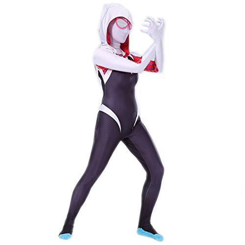 Rubyonly Costume Spider Gwen Stacy Spandex Lycra Zentai Spiderman pour Femme, CL