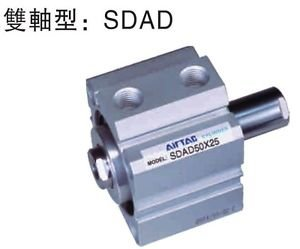 Double Rod Cylinder (MG Universal Double Rod Type SDADS12-25 Compact Cylinder Double Acting)
