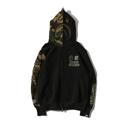 Bape New Cotton Hooded Cardigan Zipper Casual Jacket Fashion Sweater Hoodie for Men/Women - Cotton Hooded Cardigan