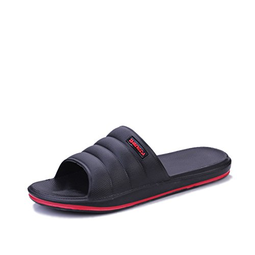 Men's Comfortable Lightweight Indoor Slippers Black