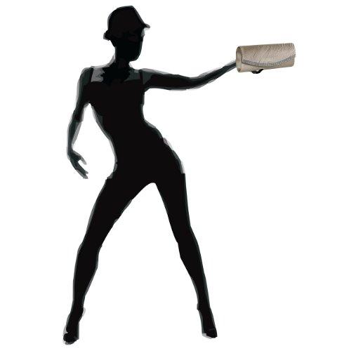 CASPAR Taschen & Accessoires, Poschette giorno donna (Champagne)