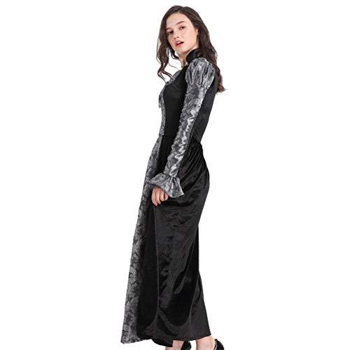 DUQA Halloween Teufel Kost¨¹m Hexe Vampir Cosplay Uniform Halloween Kost¨¹m (Elastische Taille Samt Kostüm)