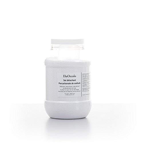 EluOecolo - Percarbonate de Soude 1kg - Oxygène actif <12% - doseur à l'intérieur - Détachant & blanchissant - Made in Nice