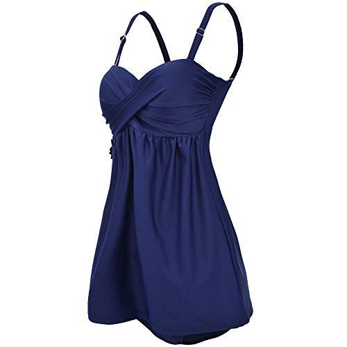 Bfmyxgs Fashion Bikini für Frauen Damen Tankini Sets mit Boy Shorts Damen Bikini Set Bademode Push up legt gepolsterten BH Bikini Bademode Bodysuits Monokini Tankini Bademode