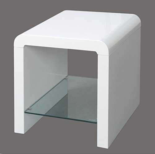 Annaghmore Agencies Atlantis Clarus White End Table