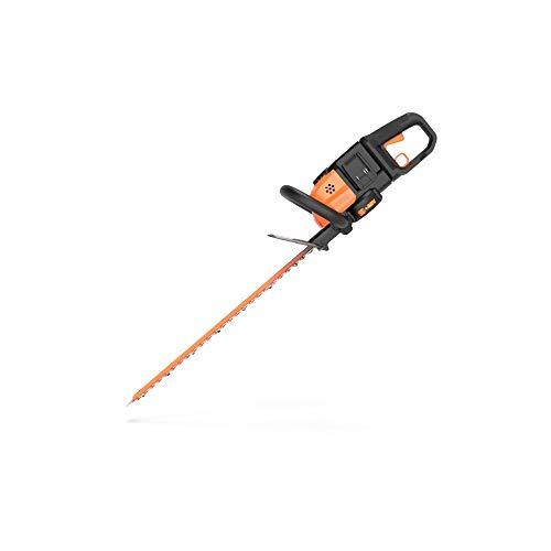 WORX WG284 Kabellose Heckenschere, 2 x 20 V, 2,0 Ah, 61 cm 2 Batterien und Auflader Wird seperat verkauft schwarz/orange - Worx Hedge-trimmer