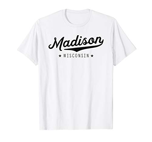 Classic Retro Vintage Madison Wisconsin USA Gift T-Shirt - Wisconsin Gelben T-shirt