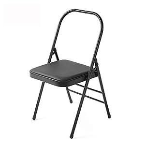 NSC Yoga Chair Verstärkte Dicke Yoga Pilates Zusatz Klappstuhl Schwarze Fitness-Accessoires