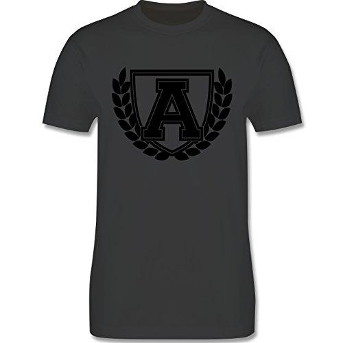 Anfangsbuchstaben - A Collegestyle - Herren Premium T-Shirt Dunkelgrau