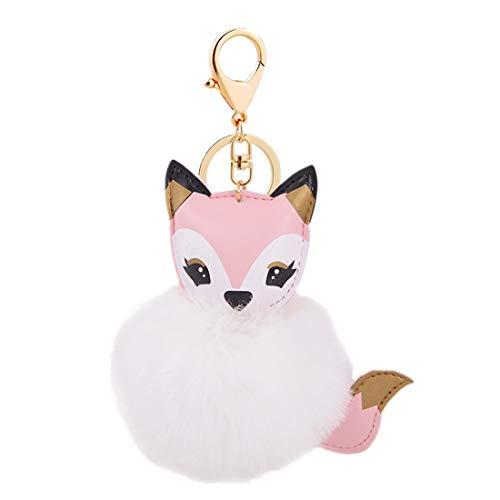Preisvergleich Produktbild Hairball Kleiner Fuchs Keychain Auto Anhänger Handtasche hängen YunYoud Haarballen kleine Fox Keychain Auto Anhänger