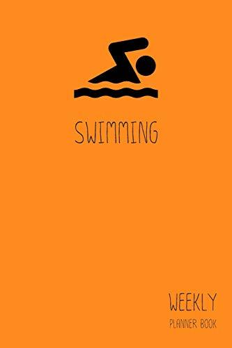 Swimming Weekly Planner Book: Classic Orange 6x9