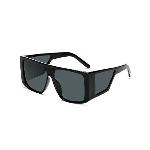 WJFDSGYG Übergroße Shield-Sonnenbrille Für Frauen Brand Large Frame Ladies Shades Schwarz Pink Sun Glasses Female