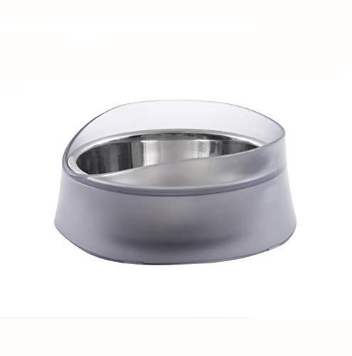 Ciotola per mangime per animali domestici Ciotola a prova di fuoriuscita, Ciotola per cani ciotola a prova di perdite per troppopieno, Ciotola per riso per cani in acciaio inossidabile, adatta per can