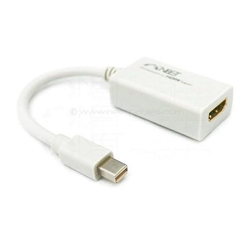 Apple Mini Display Port vers HDMI Convertisseur par Neet®. (Video + Audio pour unibody MacBook -Pro- Air-iMac+PC avec Mini Display Port etc?) Compatible avec le nouveau THUNDERBOLT port ****AVEC AUDIO****