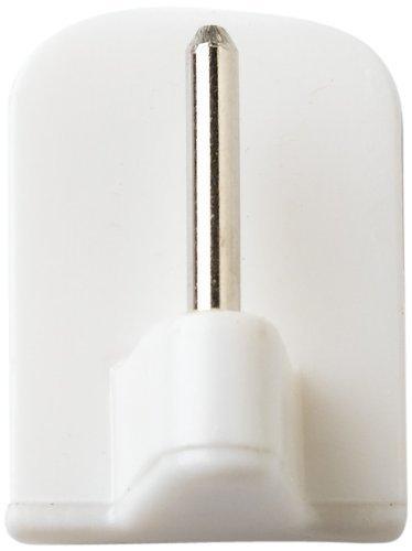Bulk hardware limited bh00114 gancio autoadesivo di sostegno generale, bianco, set di 10 pezzi