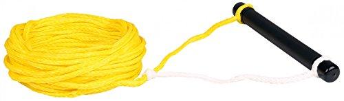 MESLE Wasserskileine Set 75', 23 m Komplettleine mit Foam-Griff, gelb