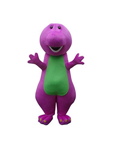der Dinosaurier Halloween Maskottchen Kostüm für Erwachsene Fancy Dress Outfit (Barney Halloween Kostüme)