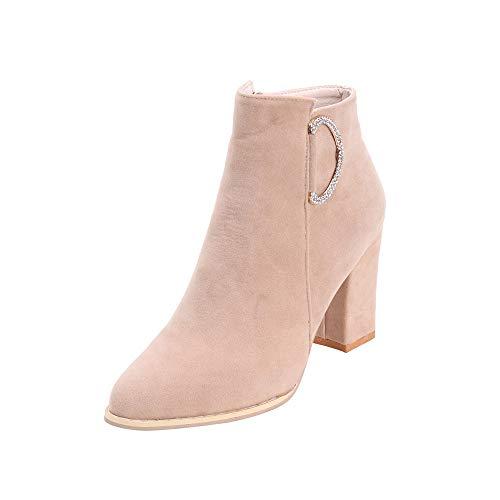 a352f01f47cde chaussures femme Bottes Bottines Bottines en Daim à la Mode Femmes - Bottes  Simples en Daim