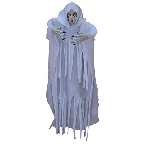 Neubula Halloween Ghost Requisiten,Weiße Geiststützen Halloween Verzierung des Gruseligen Blickgeisterhorrors, Größe 6 Fuß Hoch, 3 Fuß - Gespenstische Geist Ghost Kostüm