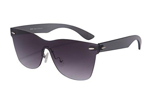 SHINU Blitzspiegel Objektiv Sonnenbrille Horn Rimmed Wayfarers UV400 Schutz Fashional Sonnenbrille Damen Sonnenbrille Brille-SH71001(C5)