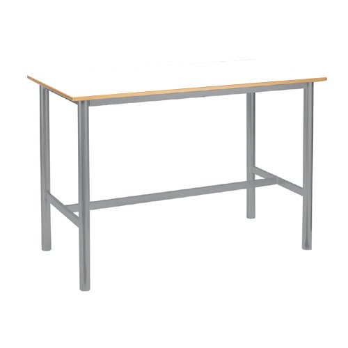 metalliform prcraft-126-tres-80-sg-tres-white Premium Rahmen Tisch, Trespa Edge, weiß