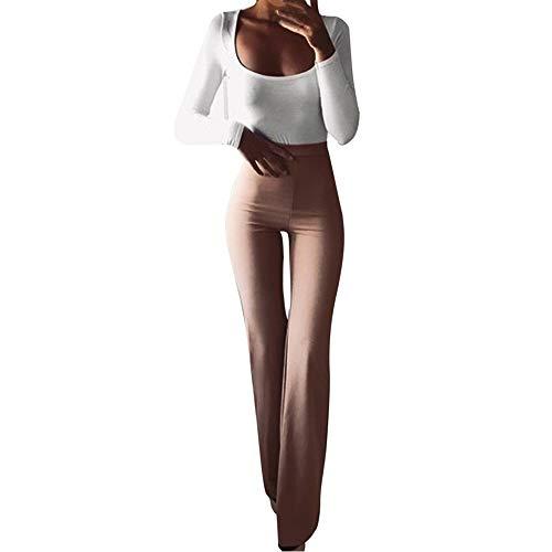 SuperSU Frauen Fashion Solid Elastizität Leggings Schlaghosen Damen Lange Stretch Hose im Marlene-Stil Sexy Kick Flare Bootcut Hosen Mode Casual Schmeichelhaft Ausgestellte Jeans Sexy Flare