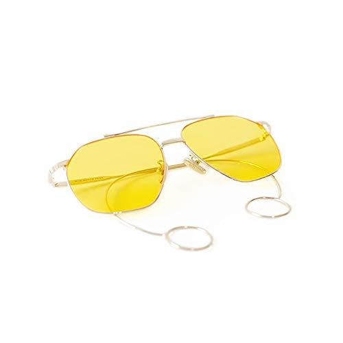 NIFG Retro-große Box Sonnenbrille kreative Ohrringe dekorative Anti-UV-Sonnenbrille