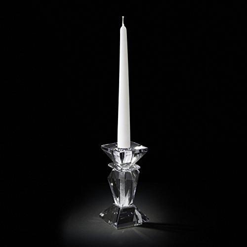 Chinelli Black out candelabro Individual Base Cuadrada Purpurina