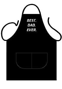 Tannhäuser Tann Casas 43-100212Black Delantal Deluxe de Best Dad Ever, unisex de adulto, One size