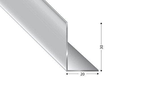 Alu-Winkel ungleischenklig, silber eloxiert, 30x20x2mm, 200cm