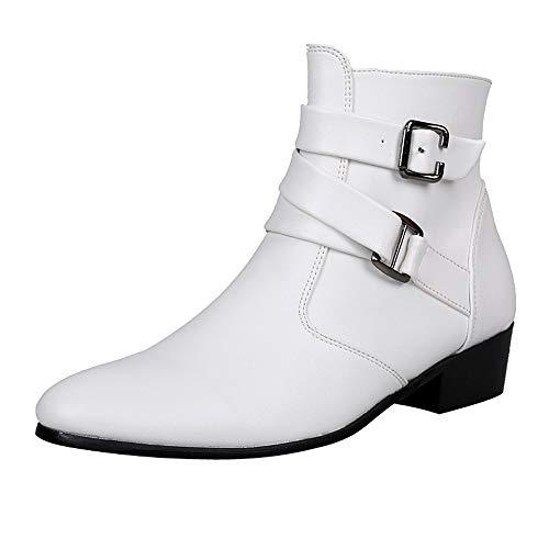 Bottines Chelsea pour Homme en Cuir Chaussures pour Homme Montantes en Daim Look Jodhpur Boots pour Hommes LuckyGirls Chic Chelsea Boots Homme Élégantes Bottines Gentleman Britannique