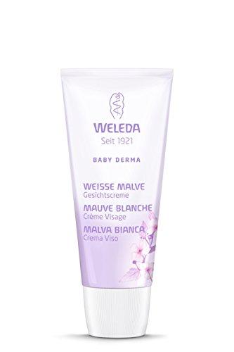WELEDA WLD00080 Baby Derma Malva Bianca Crema per il Viso e per la pelle secca irritata bambino, 50 ml