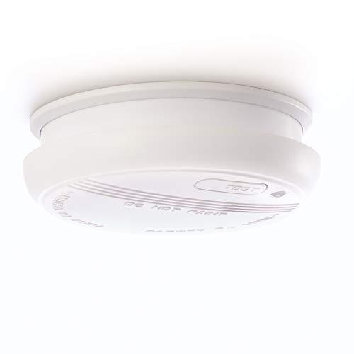 Rauchmelder schützt Sie und alles was Ihnen lieb ist vor dem Ernstfall - Brandmelder batteriebetrieben mit 1 x 9V Block - Feuermelder entspricht DIN EN 14604