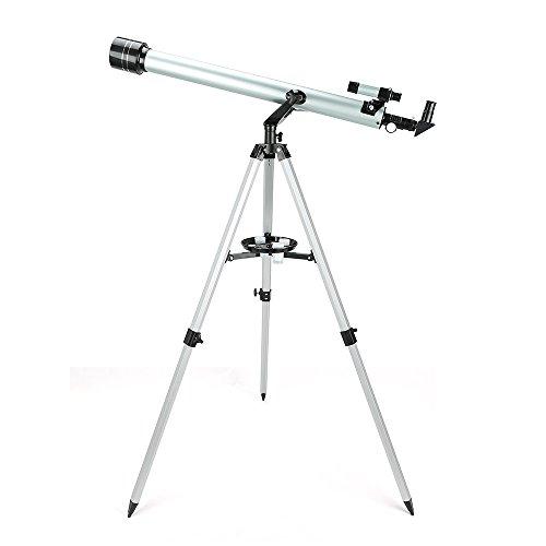 Telescopio Astronómico Ultra-Alto Claro 900/60 Telescopio Terrestre Refractor Monocular con Trípode de Aleación de Aluminio Diámetro Mayor Desmontable Portable - Uverbon