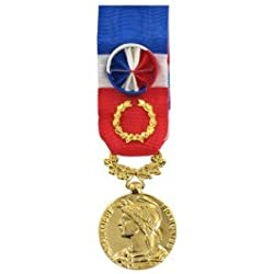Le Comptoir Des Médailles - Médaille 40 ans Honneur du Travail Modèle Fantaisie Bronze Doré - DEMO50TRAVL