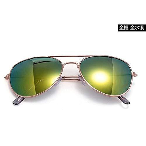 CYCY New Eltern-Kind-Kinder-Sonnenbrille Kind UV-Schutzbrille Korea Wind Jungen Mädchen Baby-Sonnenbrille 3-12 Jahre alt Mercury Brillenetui @ Goldene Quecksilber Brillenetui