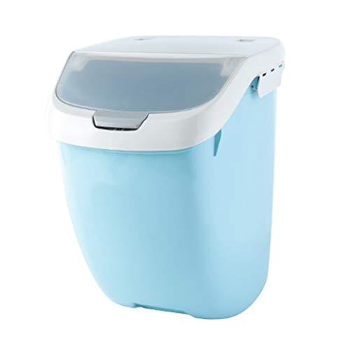 Jlxl Haustier Aufbewahrungsbox für Vorratsbehälter für Trockenfutter für Haustiere , PP-Behälter Hund Katze Tier Vogelfutter Aufbewahrungsbox Küchenkörner Versiegelter Deckel mit Rolle - Top Lebensmittel-lagerung-container