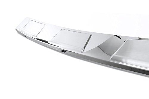 Preisvergleich Produktbild teileplus24 L593C Ladekantenschutz aus V2A Edelstahl mit Abkantung, Farbe Edelstahl:Silber glänzend/Profil gebürstet