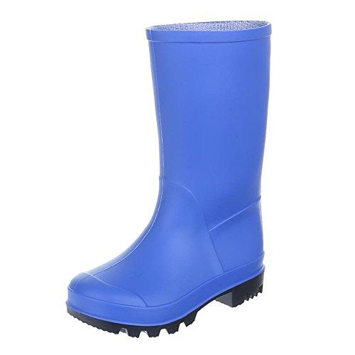 Regenstiefel 51 Schuhe Gummistiefel Kinder Gst k130p Blau UtRqawq