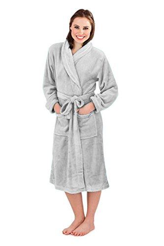 Loungeable Boutique Damen Morgenmantel Silber - Grau
