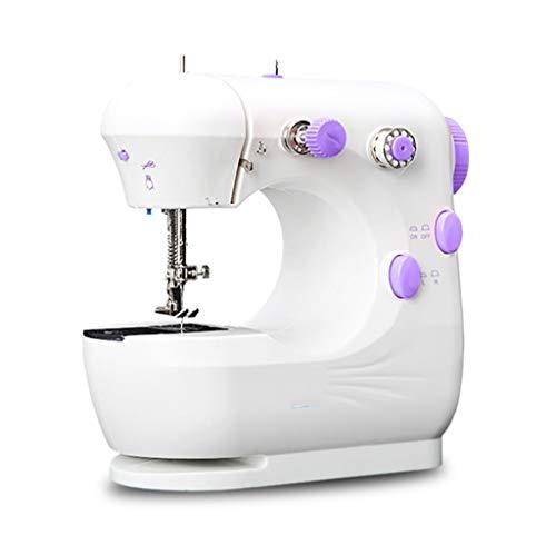 YWSJGH Máquina de Coser eléctrica, Costura de Bordado de 2 velocidades Hecha a Mano, fácil de Usar, operada por Pedal for Telas Gruesas de Varias Capas (Color : White)