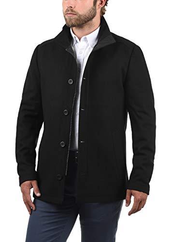 JACK & JONES Premium Jacinto Herren Winter Mantel Wollmantel Lange Winterjacke mit Stehkragen, Größe:L, Farbe:Black - 3