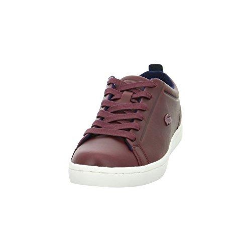 Lacoste Straightset Lace Damen Sneaker Low Rot