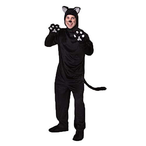 HOOLAZA Männer Rollenspiel Schwarze Katze Tier Cosplay Kostüm Set (Schwarze Katze Kostüm Mann)